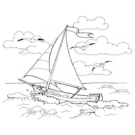 LIttle white boat. Маленькая белая лодочка